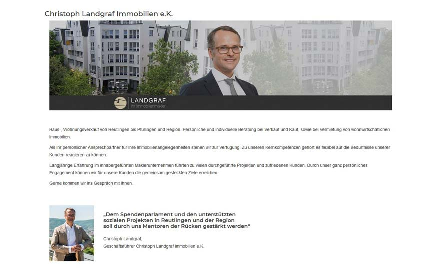 Unser neues Mentorenmitglied – Christoph Landgraf Immobilien