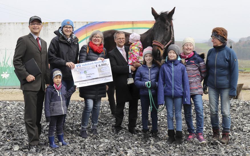 Förderung von Schulprojekt der St. Wolfgang Schule