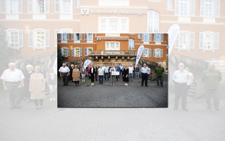 """""""Soforthilfe Corona"""": Volksbank Reutlingen unterstützt Vereine mit 10.800 Euro."""