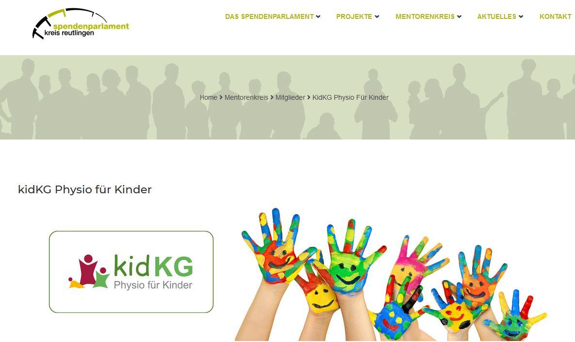 Neuer Mentor kidKG Physio für Kinder