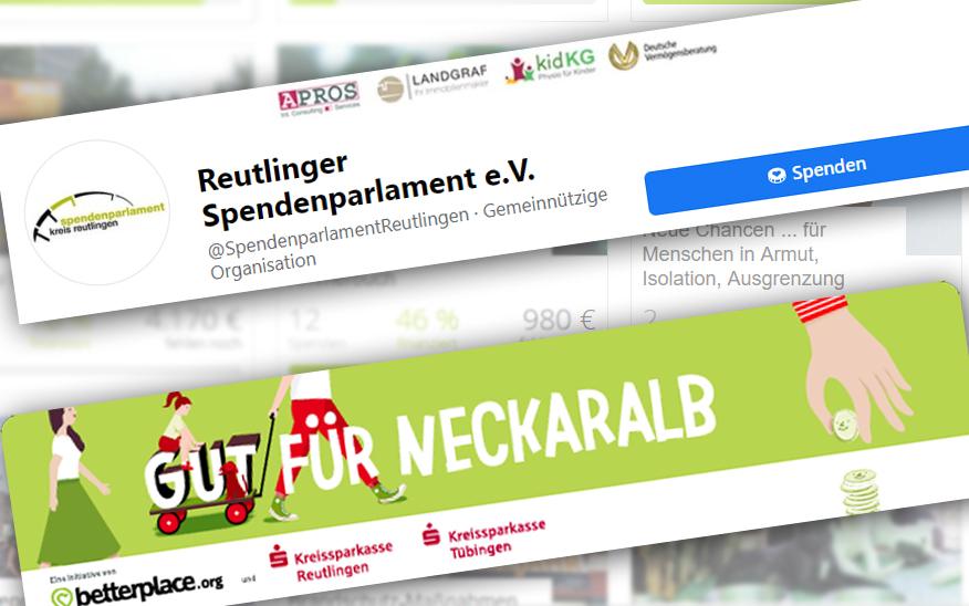 """Spenden-Projekte nun auf Facebook und Spendenplattform """"Gut für NeckarAlb"""""""