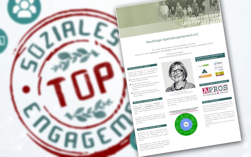 """Wir sind neuer Sozialpartner in der """"TOP Sozial"""" Charta"""