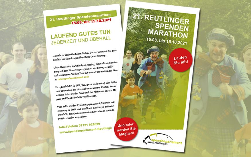21. Reutlinger Spendenmarathon – 15.08. bis 15.10.2021